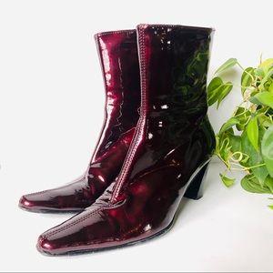 Aquatalia • Patent Leather Heel Boots